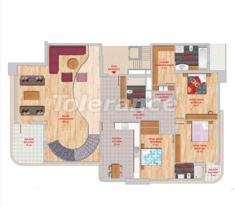 Luxury penthouse in Gursu, Konyaalti in an elite complex - 24554   Tolerance Homes