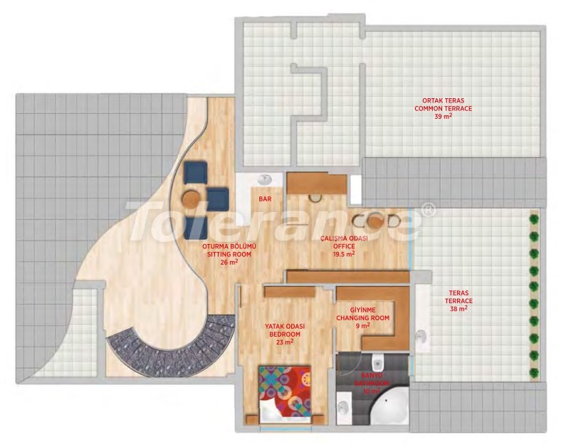 Luxury penthouse in Gursu, Konyaalti in an elite complex - 24553   Tolerance Homes
