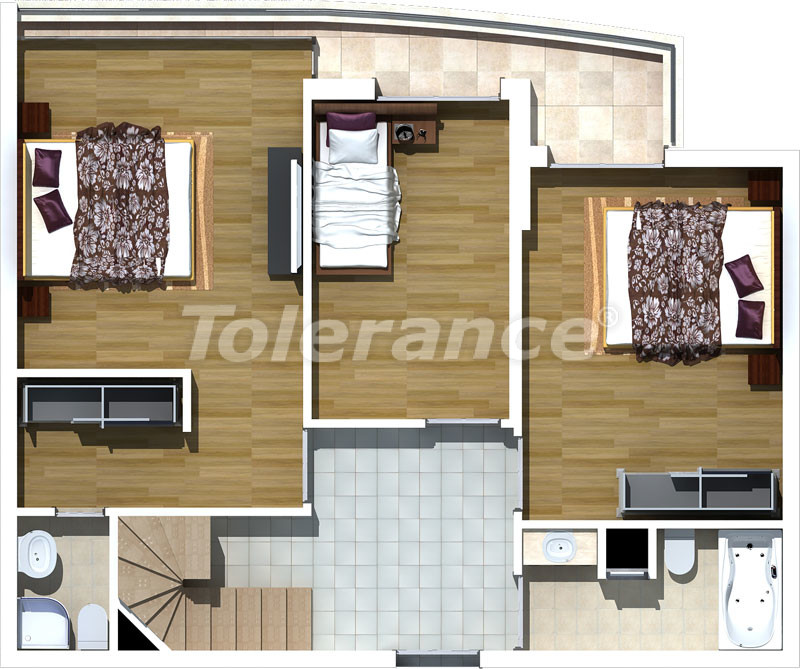 Luxury two-bedroom apartments in Liman, Konyaalti 500 meters from the sea - 469 | Tolerance Homes