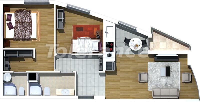 Luxury two-bedroom apartments in Liman, Konyaalti 500 meters from the sea - 466 | Tolerance Homes