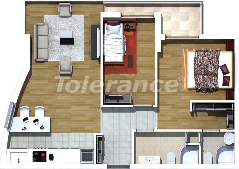 Luxury two-bedroom apartments in Liman, Konyaalti 500 meters from the sea - 464 | Tolerance Homes