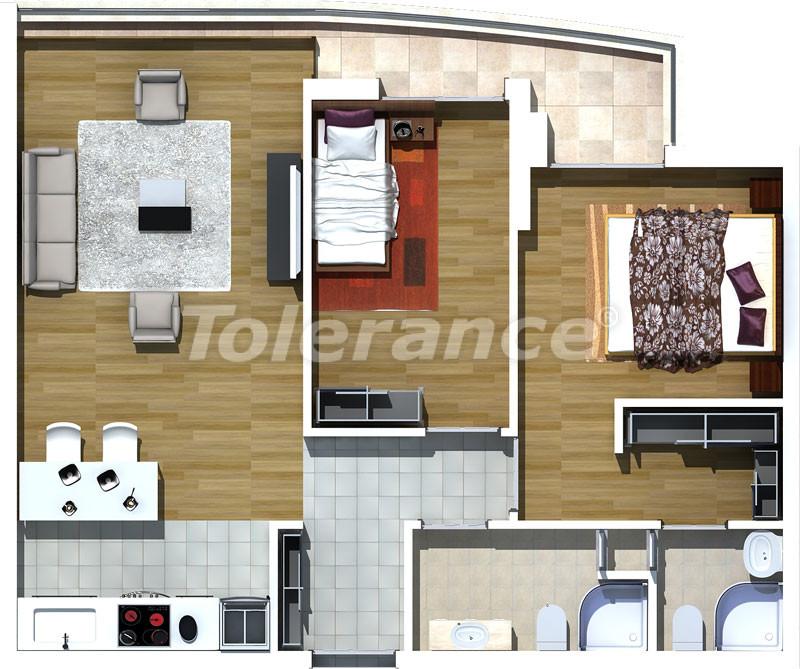 Luxury two-bedroom apartments in Liman, Konyaalti 500 meters from the sea - 465 | Tolerance Homes
