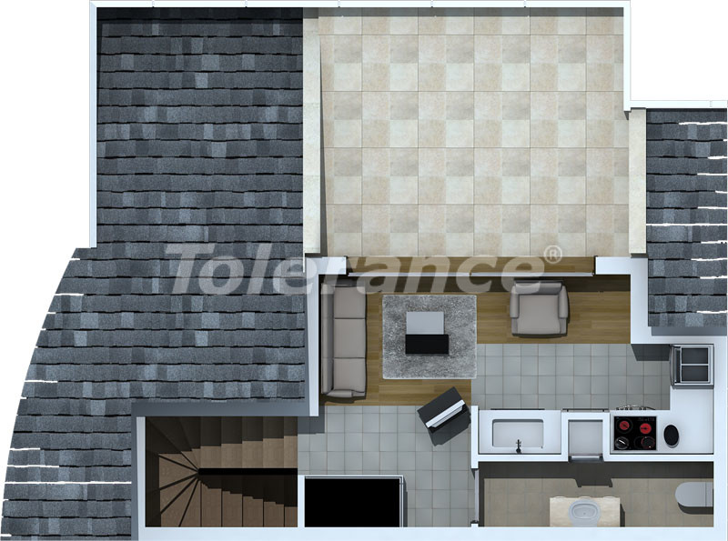 Luxury two-bedroom apartments in Liman, Konyaalti 500 meters from the sea - 468 | Tolerance Homes