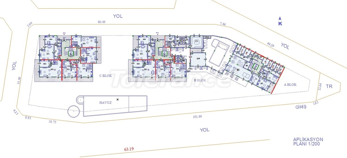 Apartments in Oba, Alanya with indoor pool - 9080 | Tolerance Homes