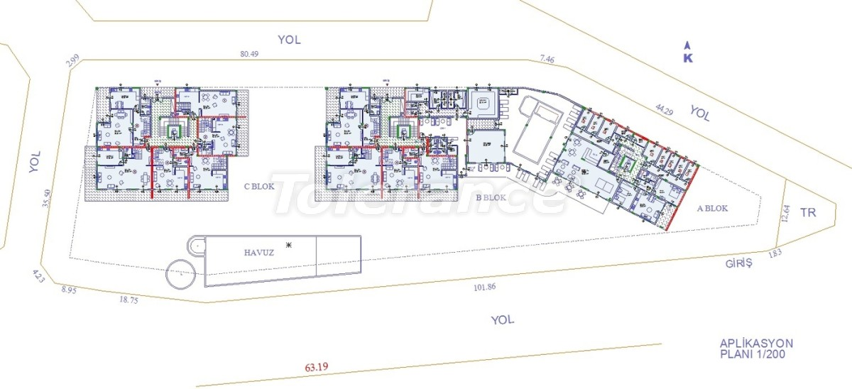 Apartments in Oba, Alanya with indoor pool - 9078 | Tolerance Homes