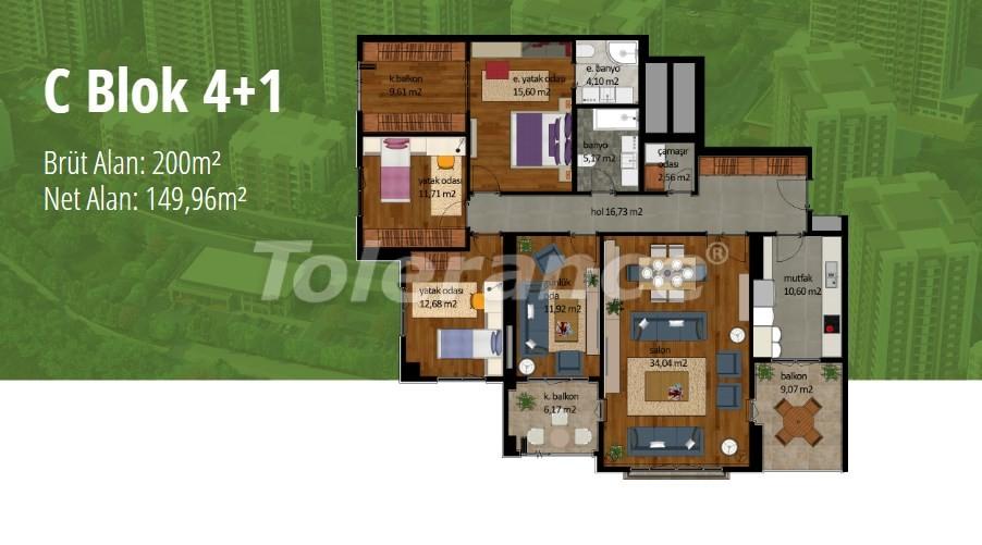 Apartments in Beylikduzu, Istanbul with installment on the coast of the Marmara Sea - 17005   Tolerance Homes