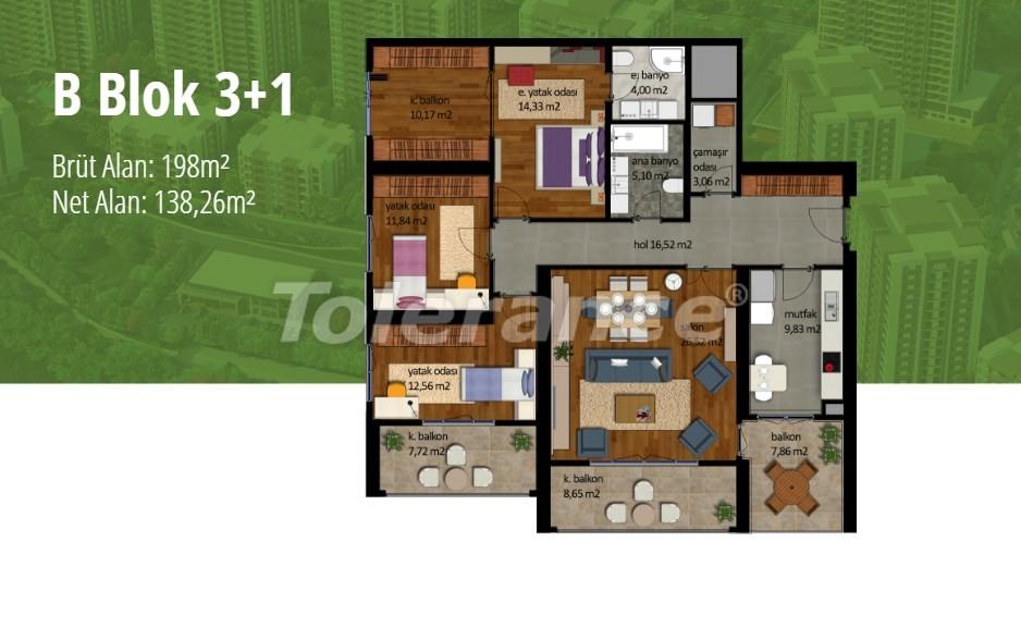 Apartments in Beylikduzu, Istanbul with installment on the coast of the Marmara Sea - 17004   Tolerance Homes