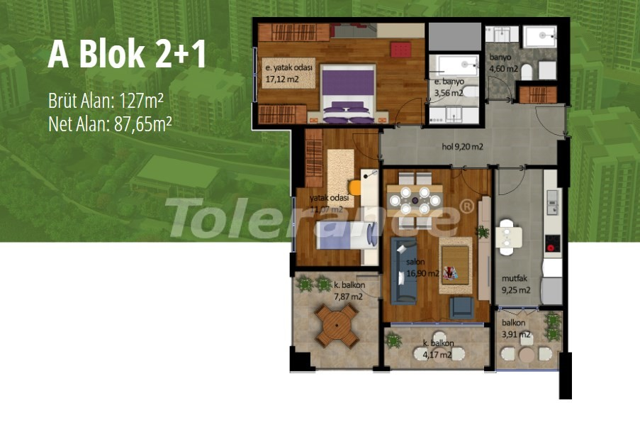 Apartments in Beylikduzu, Istanbul with installment on the coast of the Marmara Sea - 17002   Tolerance Homes