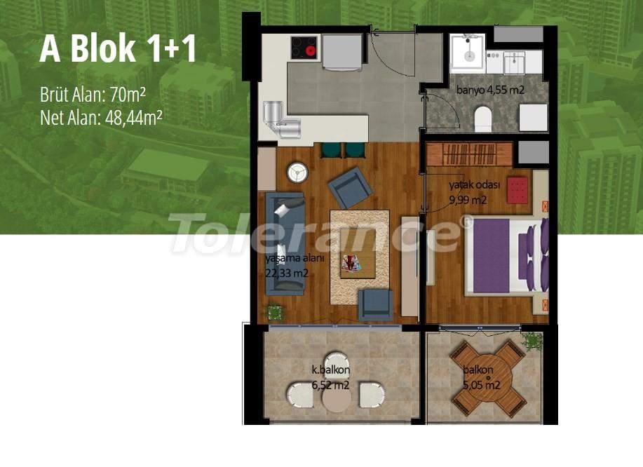 Apartments in Beylikduzu, Istanbul with installment on the coast of the Marmara Sea - 17001 | Tolerance Homes