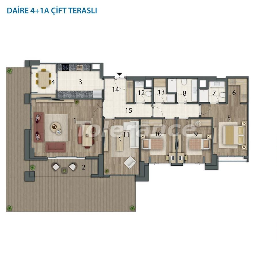 Spacious apartments in Basaksehir, Istanbul in a modern complex with installments up to 1 year - 20562 | Tolerance Homes
