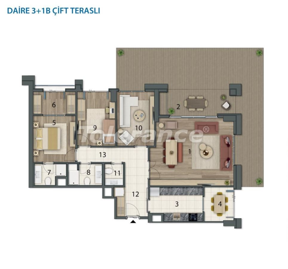 Spacious apartments in Basaksehir, Istanbul in a modern complex with installments up to 1 year - 20560 | Tolerance Homes