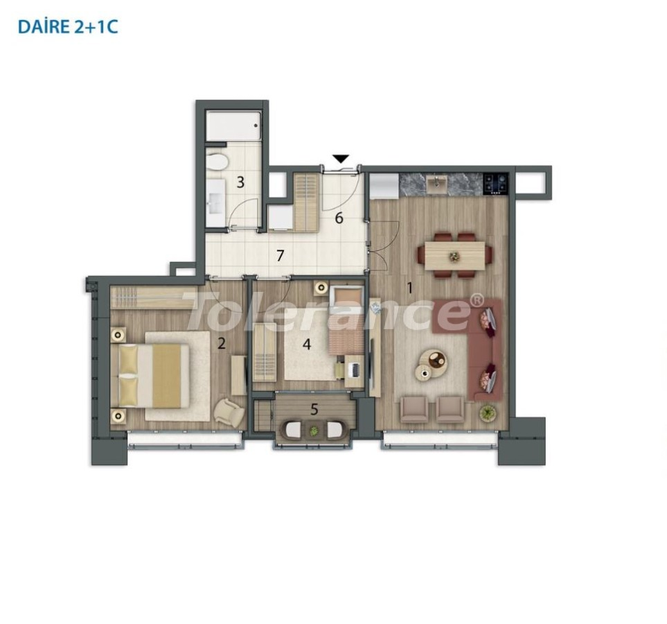 Spacious apartments in Basaksehir, Istanbul in a modern complex with installments up to 1 year - 20557 | Tolerance Homes