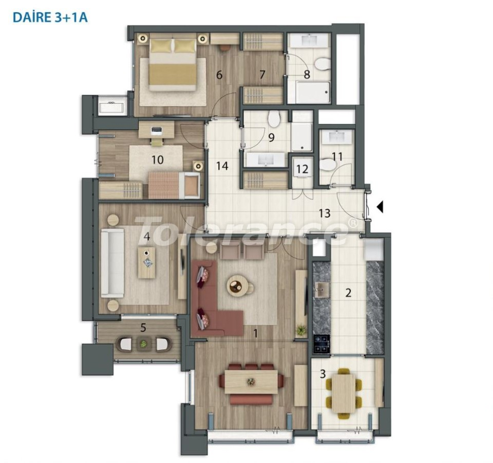 Spacious apartments in Basaksehir, Istanbul in a modern complex with installments up to 1 year - 20559 | Tolerance Homes