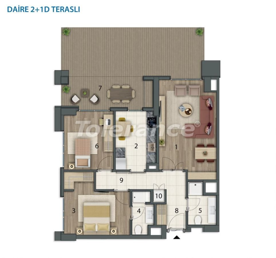 Spacious apartments in Basaksehir, Istanbul in a modern complex with installments up to 1 year - 20558 | Tolerance Homes