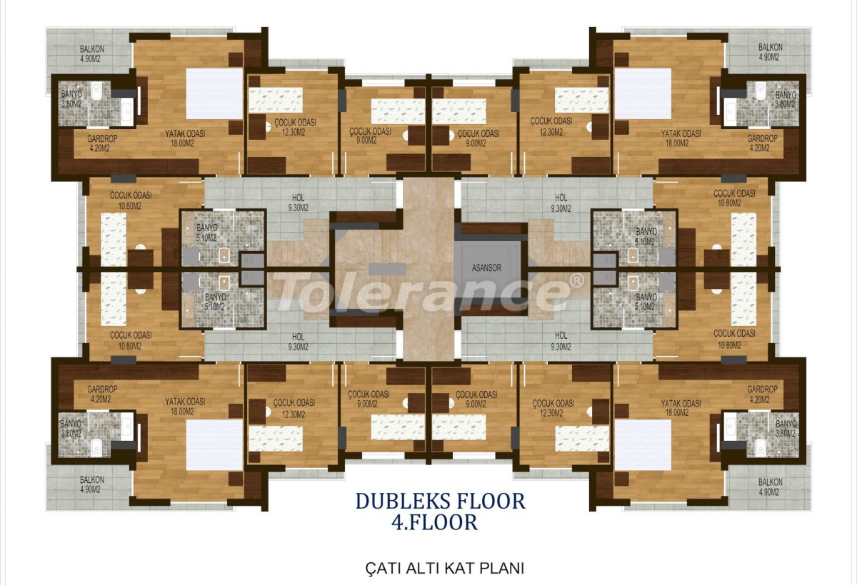 Tree bedroom apartments in Hurma, Konyaalti in a complex with a swimming pool - 10508 | Tolerance Homes