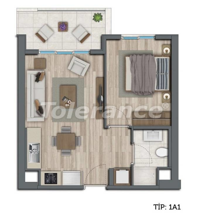 Modern apartments in Kepez, Antalya by installments from the developer - 10546 | Tolerance Homes