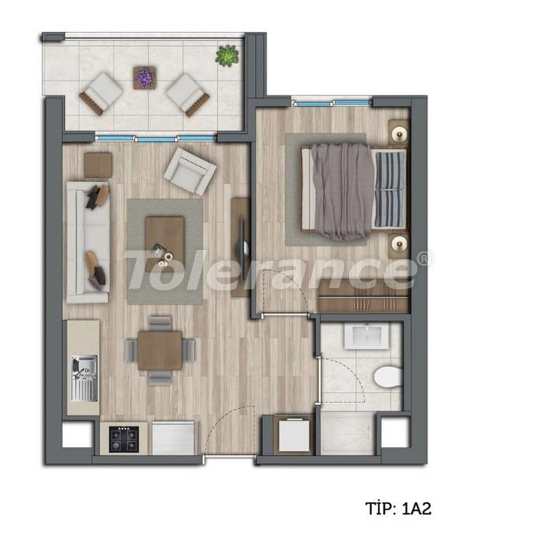 Modern apartments in Kepez, Antalya by installments from the developer - 10547 | Tolerance Homes