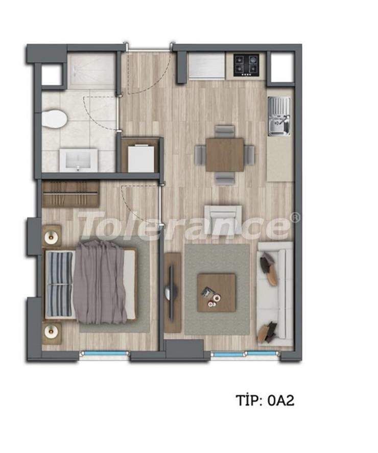 Modern apartments in Kepez, Antalya by installments from the developer - 10544 | Tolerance Homes