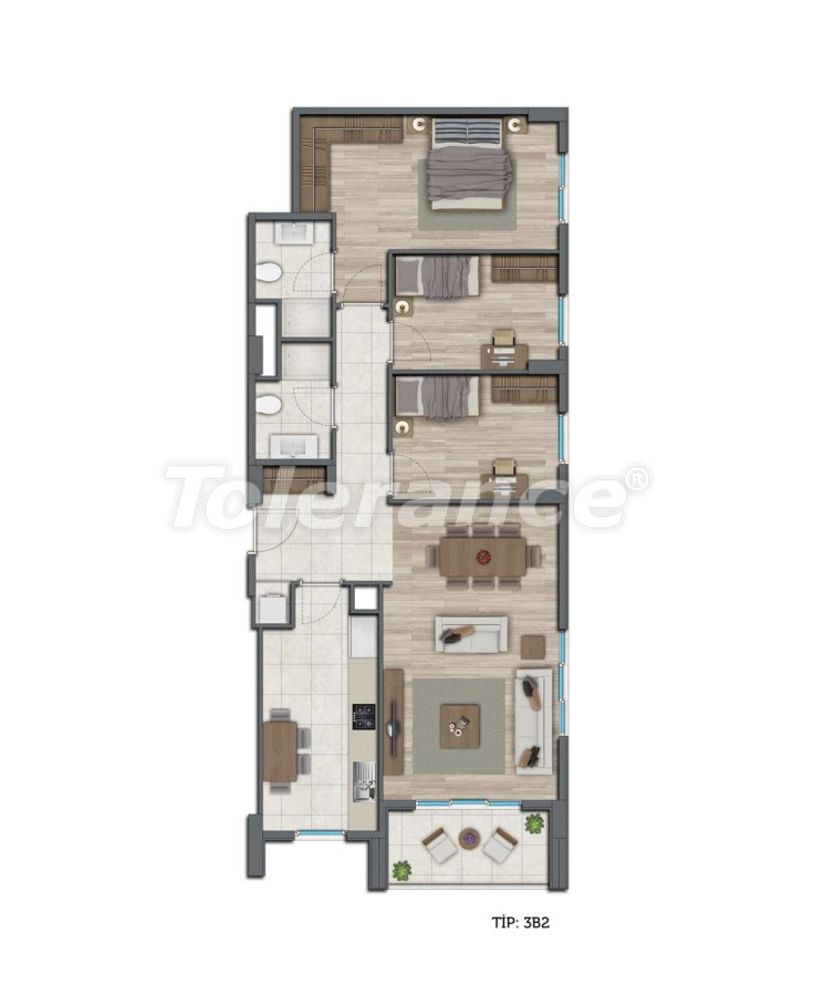 Modern apartments in Kepez, Antalya by installments from the developer - 10571 | Tolerance Homes