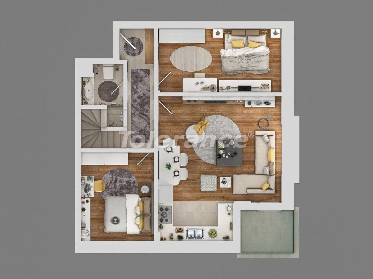Modern apartment complex in Sarisu, Konyaalti at the foot of the mountains with the possibility of installment - 10658 | Tolerance Homes