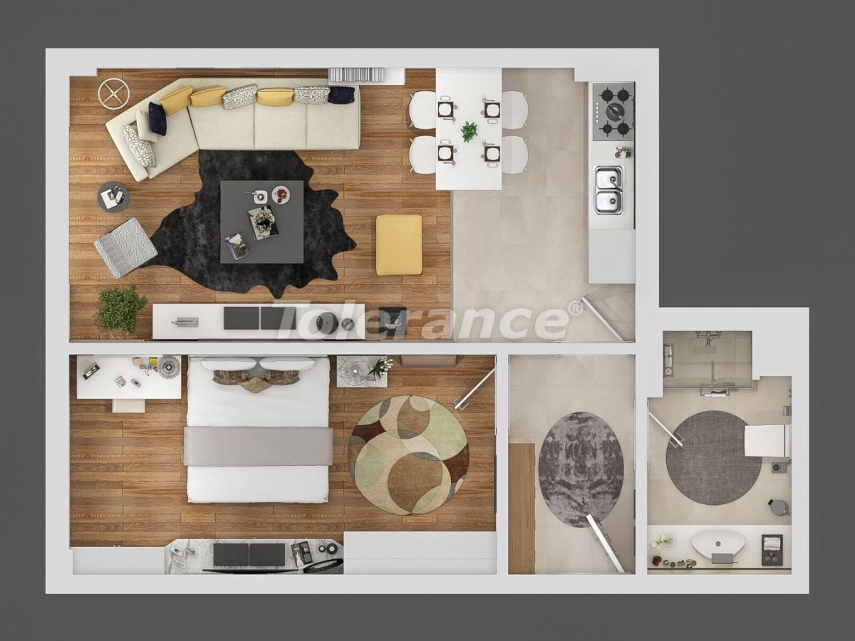 Modern apartment complex in Sarisu, Konyaalti at the foot of the mountains with the possibility of installment - 10659 | Tolerance Homes