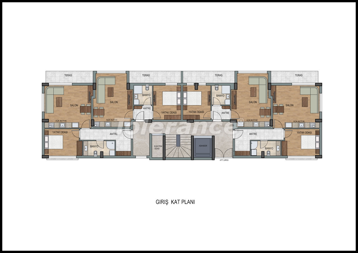 Apartments  in Liman, Konyaalti with a fitness center and sauna from the developer - 11867 | Tolerance Homes