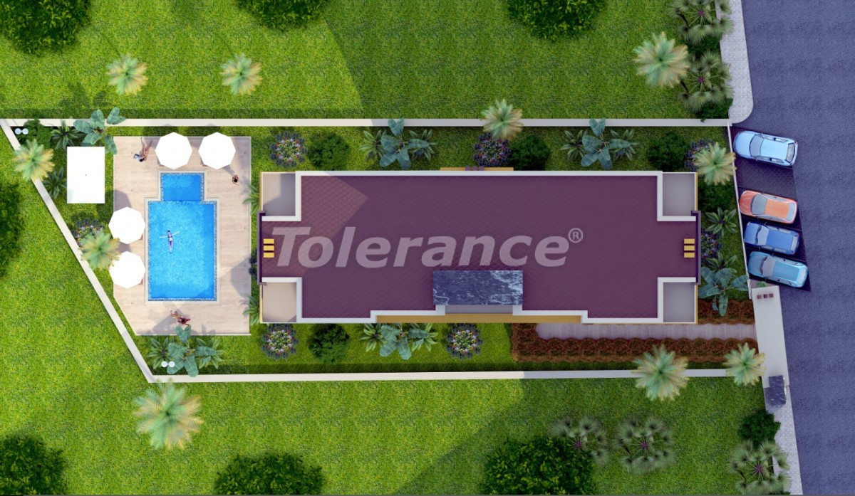 Apartments  in Liman, Konyaalti in the complex with a fitness center and sauna - 19269 | Tolerance Homes