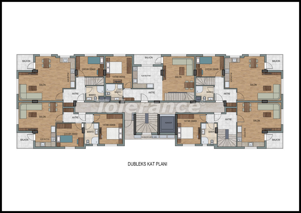 Apartments  in Liman, Konyaalti with a fitness center and sauna from the developer - 11869 | Tolerance Homes