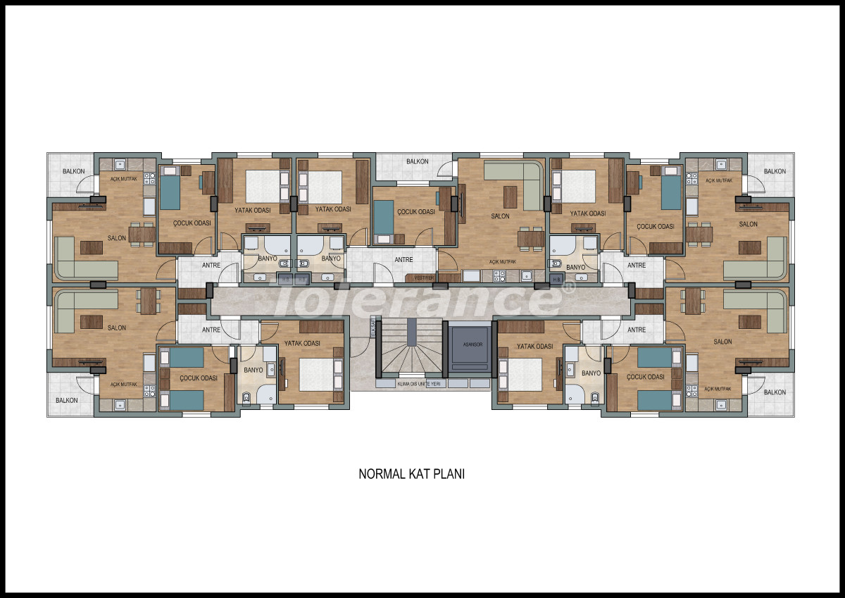 Apartments  in Liman, Konyaalti with a fitness center and sauna from the developer - 11868 | Tolerance Homes