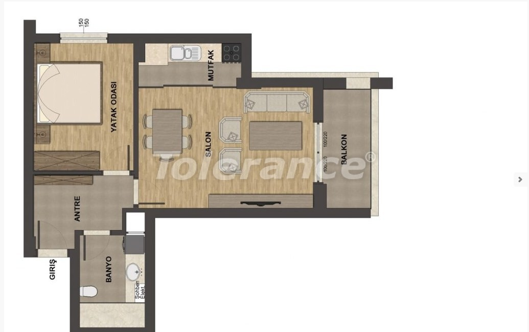 Luxury apartments in Uncali, Konyaalti with swimming pool - 13658   Tolerance Homes