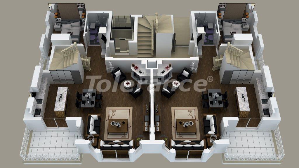Luxury villas in Doshemealtı, Antalya with Jacuzzi - 13906 | Tolerance Homes