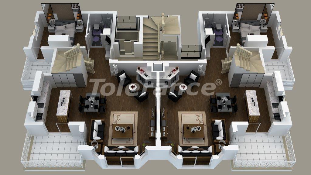 Luxury villas in Doshemealtı, Antalya with Jacuzzi - 13907 | Tolerance Homes