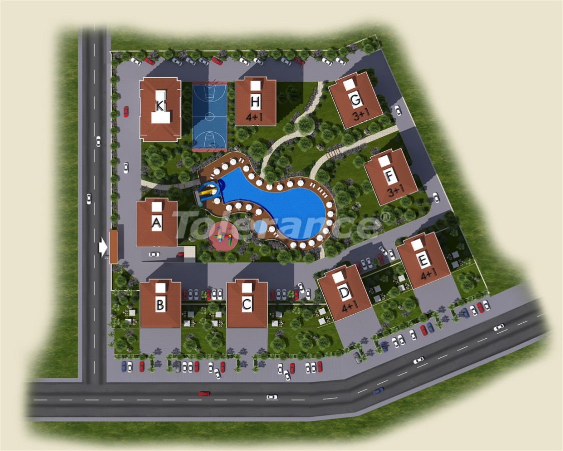 Spacious apartments in Kepez, Antalya in the modern complex with swimming pool - 14012 | Tolerance Homes