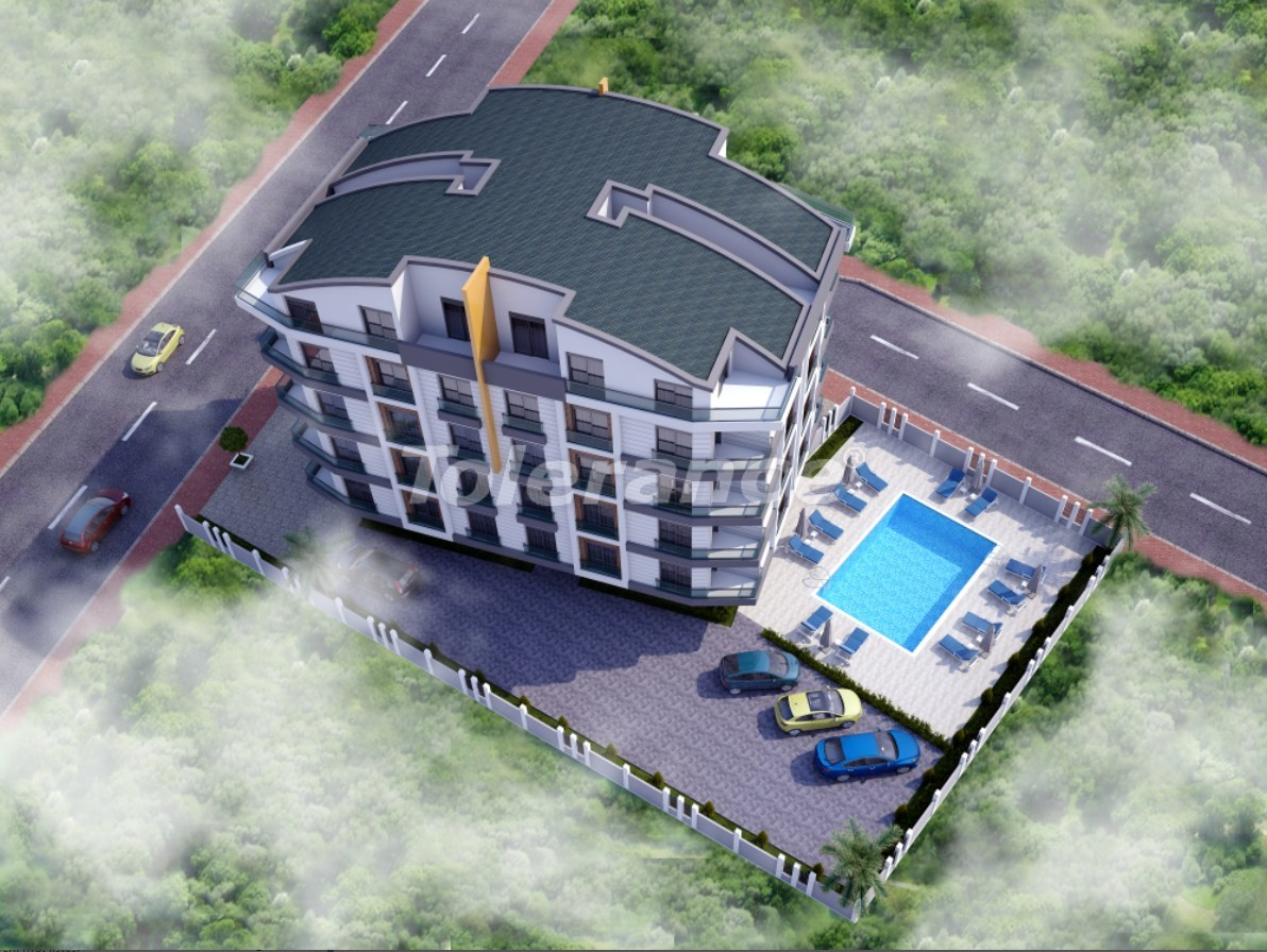 One-bedroom apartment in Hurma, Konyaalti in the complex with a swimming pool - 18920   Tolerance Homes