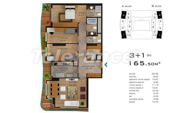 Spacious apartments in Istanbul in developed area with possibility of installments up to 2 years - 14184 | Tolerance Homes