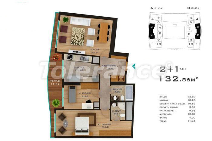 Spacious apartments in Istanbul in developed area with possibility of installments up to 2 years - 14183 | Tolerance Homes