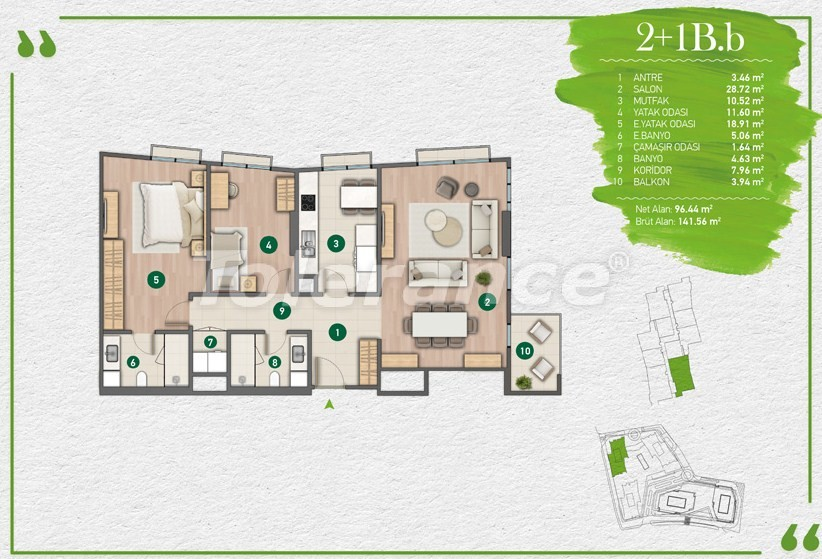 Apartments in Istanbul in a complex with a developed infrastructure - 14355 | Tolerance Homes