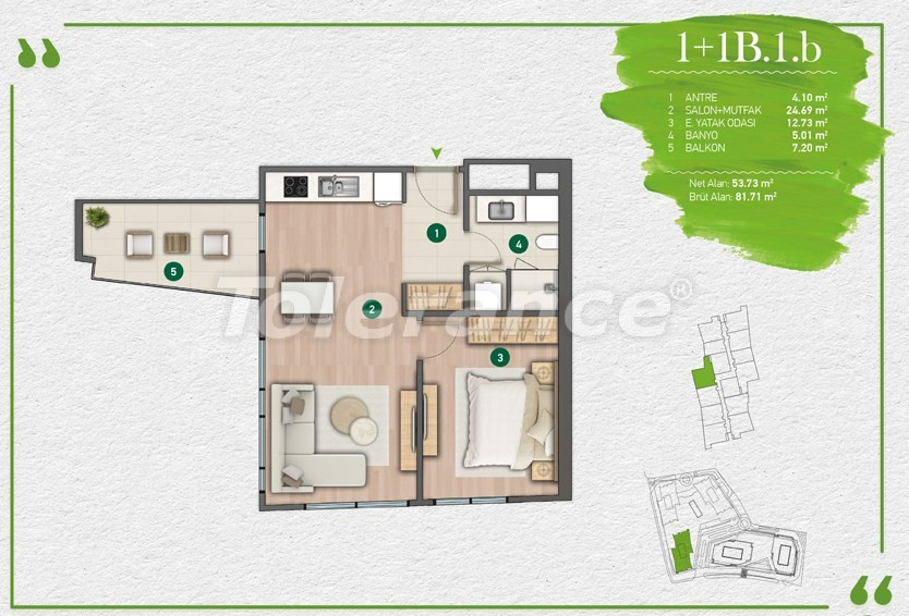 Apartments in Istanbul in a complex with a developed infrastructure - 14340 | Tolerance Homes