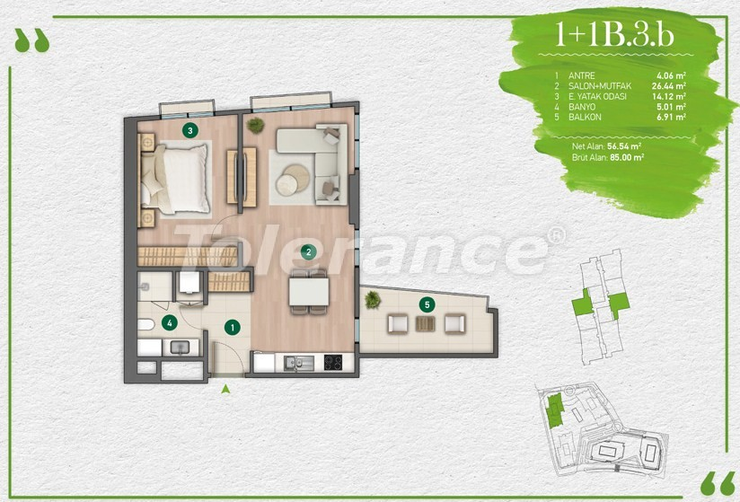 Apartments in Istanbul in a complex with a developed infrastructure - 14342 | Tolerance Homes