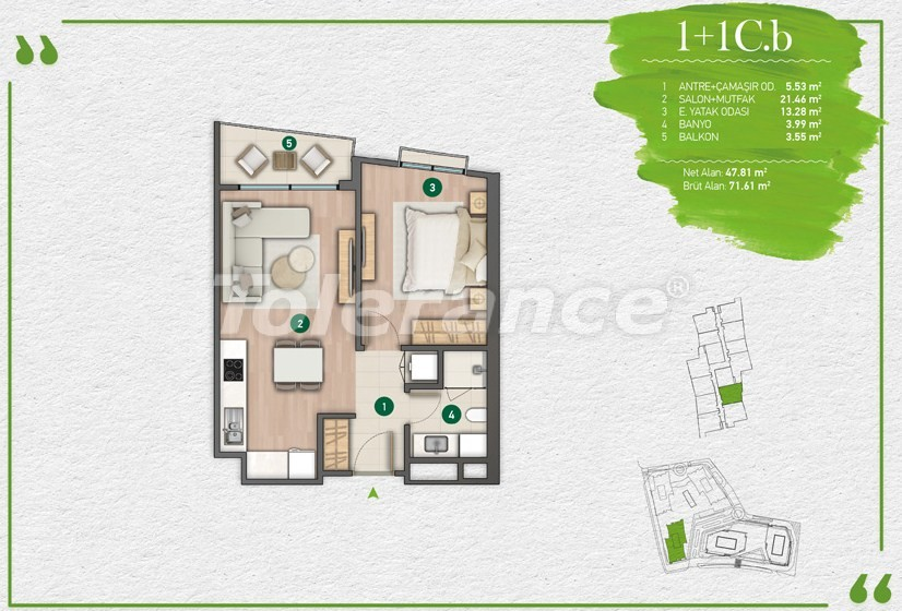 Apartments in Istanbul in a complex with a developed infrastructure - 14347 | Tolerance Homes