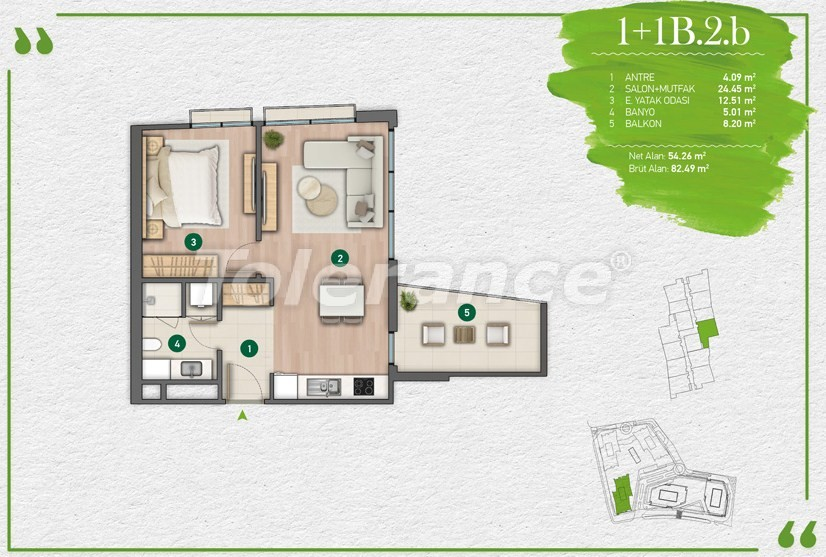 Apartments in Istanbul in a complex with a developed infrastructure - 14341 | Tolerance Homes