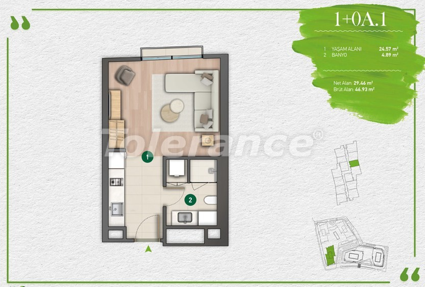 Apartments in Istanbul in a complex with a developed infrastructure - 14337 | Tolerance Homes