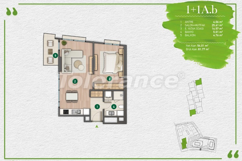 Apartments in Istanbul in a complex with a developed infrastructure - 14339 | Tolerance Homes