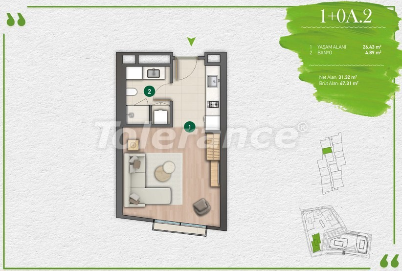 Apartments in Istanbul in a complex with a developed infrastructure - 14338 | Tolerance Homes