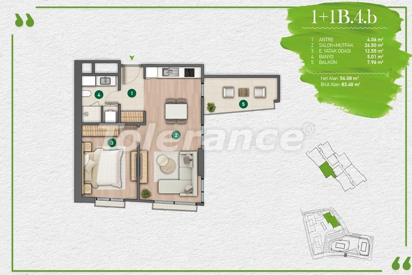 Apartments in Istanbul in a complex with a developed infrastructure - 14343 | Tolerance Homes