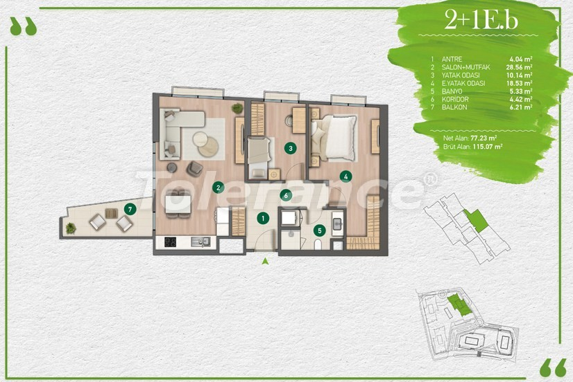Apartments in Istanbul in a complex with a developed infrastructure - 14354 | Tolerance Homes