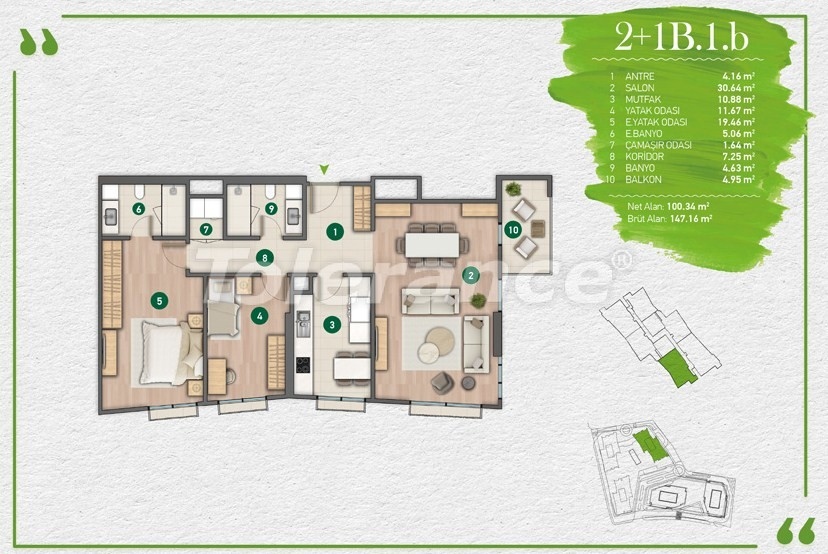 Apartments in Istanbul in a complex with a developed infrastructure - 14350 | Tolerance Homes