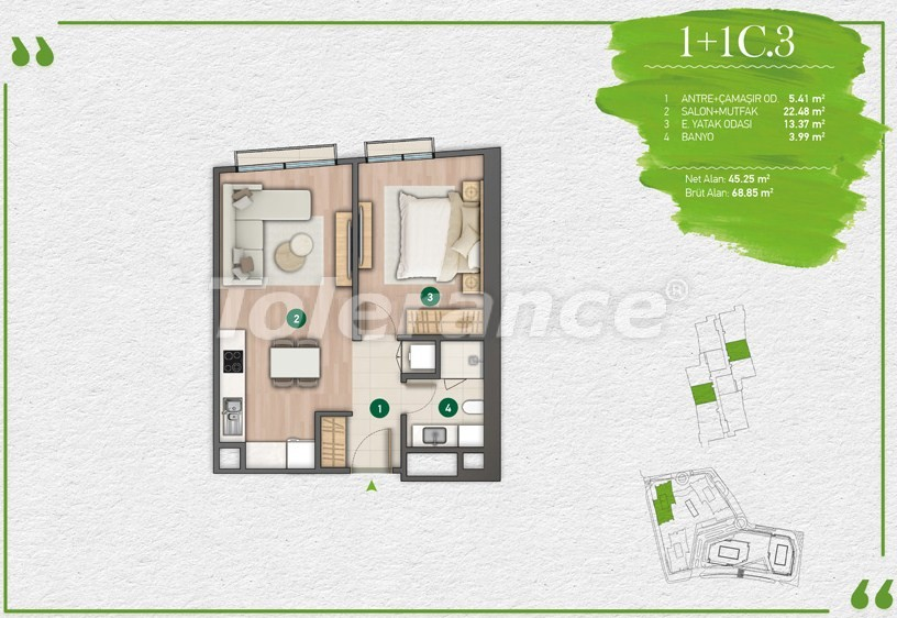 Apartments in Istanbul in a complex with a developed infrastructure - 14346 | Tolerance Homes