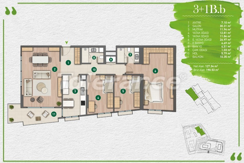 Apartments in Istanbul in a complex with a developed infrastructure - 14357 | Tolerance Homes