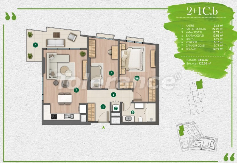 Apartments in Istanbul in a complex with a developed infrastructure - 14351 | Tolerance Homes